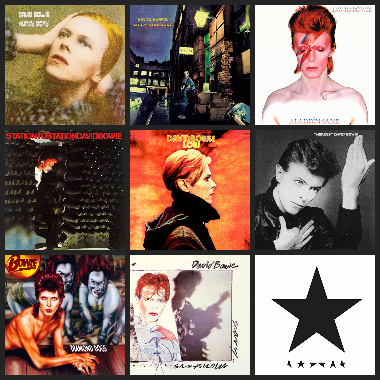 David Bowie Album Tile
